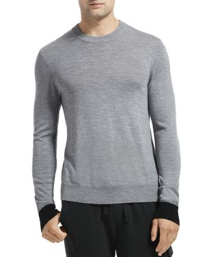 Atm Anthony Thomas Melillo Contrast-Cuff Merino Wool Sweater