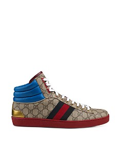 Gucci - Men's Ace GG Supreme High-Top Sneakers