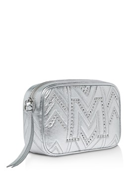 MCM - Logo Quilted Metallic Leather Belt Bag