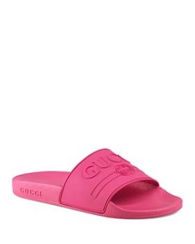 Gucci - Women's Logo Slide Sandals