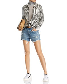 BLANKNYC - Rigid Distressed Denim Shorts in Top Notch