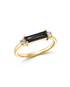 Bloomingdale's - Black Onyx & Diamond Accent Band in 14K Yellow Gold - 100% Exclusive