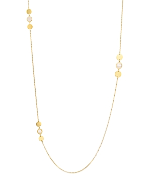 Argento Vivo Mother-of-Pearl Station Necklace in 14K Gold-Plated Sterling Silver, 36