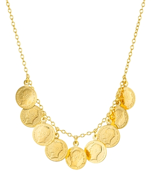 Argento Vivo Antique-Style Coin Necklace in 14K Gold-Plated Sterling Silver, 16