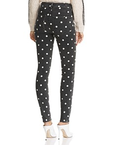 PAIGE - Hoxton Ultra-Skinny Jeans in Black Cream Polka Dot Product Description