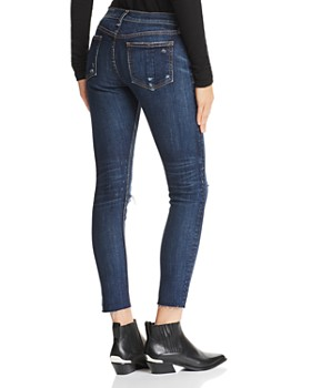 rag & bone/JEAN - Distressed Ankle Skinny Jeans in Franklin with Holes