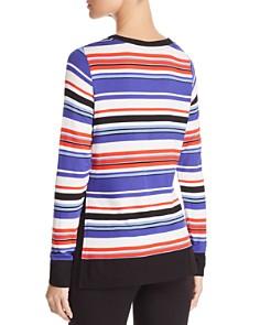 Marc New York - Striped Side Slit Top