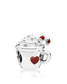 PANDORA - Sterling Silver & Enamel Cocoa Mug Charm