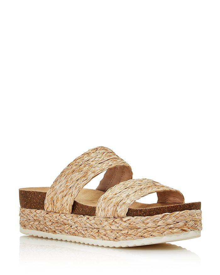 AQUA - Women's Kimbo Raffia Platform Slip-On Sandals - 100% Exclusive
