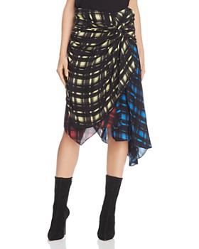 Preen Line - Halu Mixed Grid Print Midi Skirt