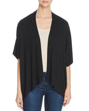 AVEC Open-Front Kimono in Black