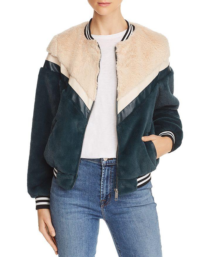 Apparis - Florence Faux-Fur Bomber Jacket