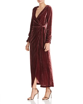 Donna Mizani - Austen Velvet Wrap Gown