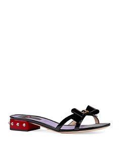 Gucci - Women's Patent Leather Pumps with Bow