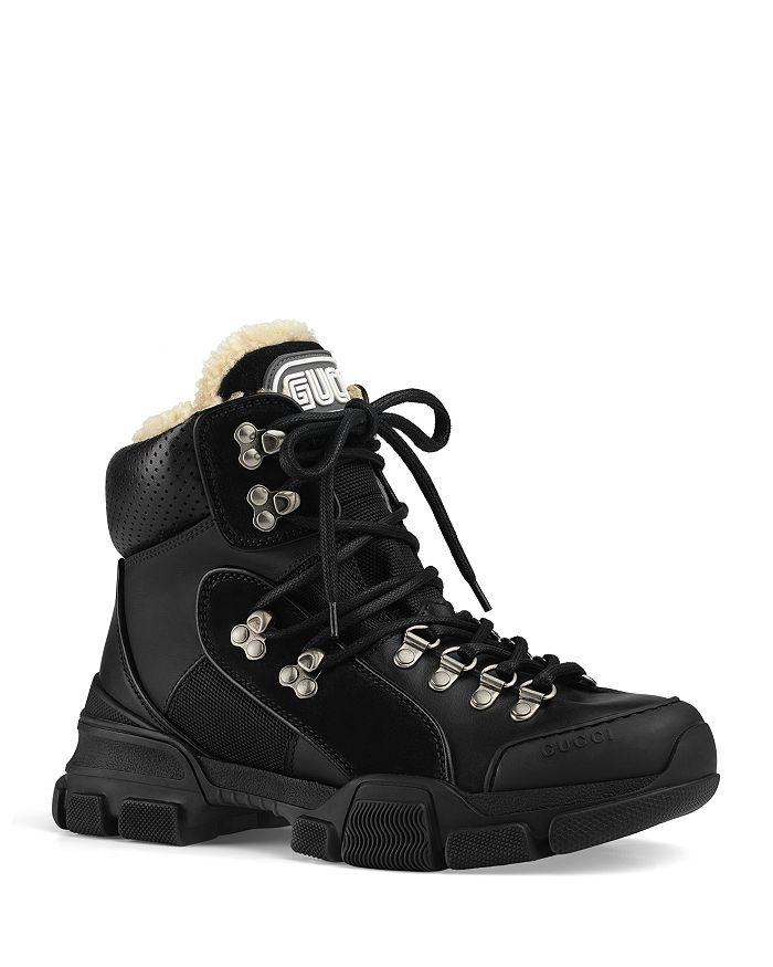 Gucci - Women's Flashtrek Shearling High-Top Sneakers