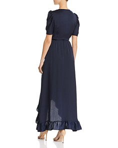 AQUA - Puff-Sleeve Wrap Dress - 100% Exclusive