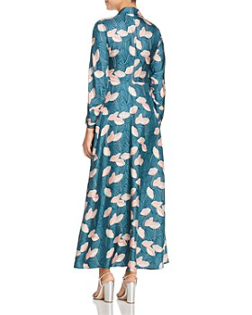 Lafayette 148 New York - Siya Silk Maxi Shirt Dress