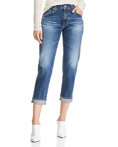 AG - Ex BF Crop Slouchy-Slim Jeans in 18 Years Indigo City