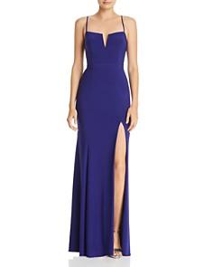 AQUA - Notch-Neck Gown - 100% Exclusive