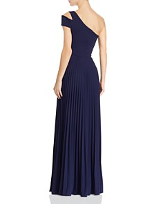 AQUA - Scuba Crepe One-Shoulder Pleated Gown - 100% Exclusive