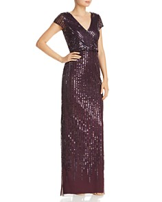 Adrianna Papell - Embellished Column Gown