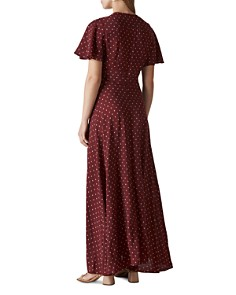 Whistles - Woodblock-Print Wrap Dress