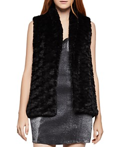 BCBGeneration - Faux Fur Open-Front Vest