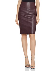 REISS - Megan Leather-Paneled Skirt
