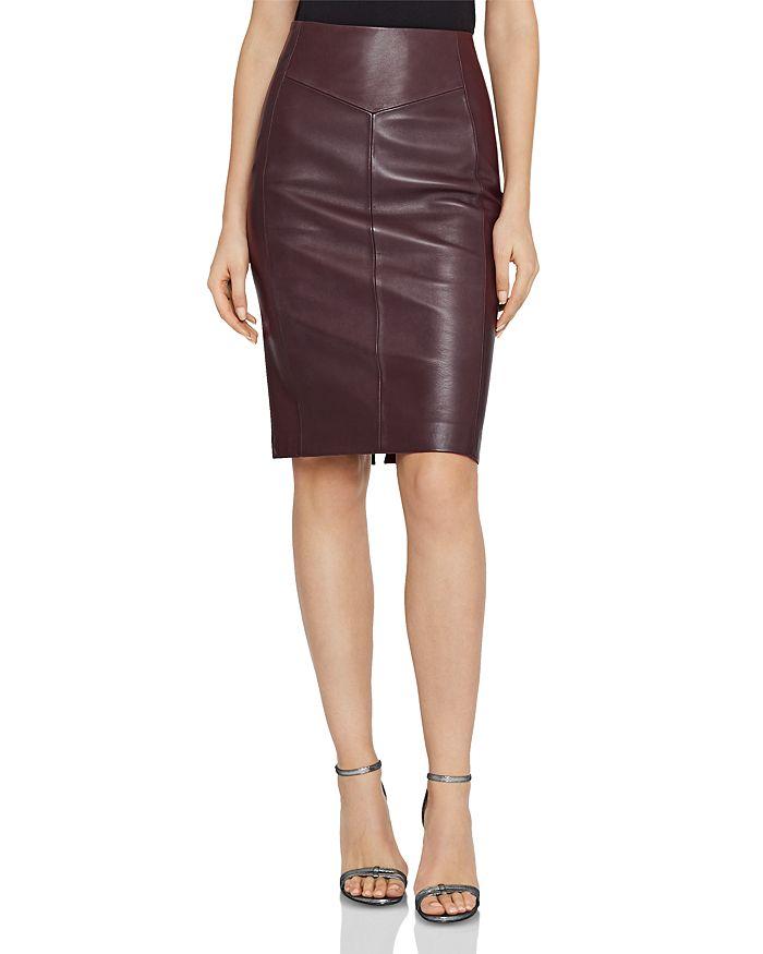 ae0cb7aeda REISS - Megan Leather-Paneled Skirt
