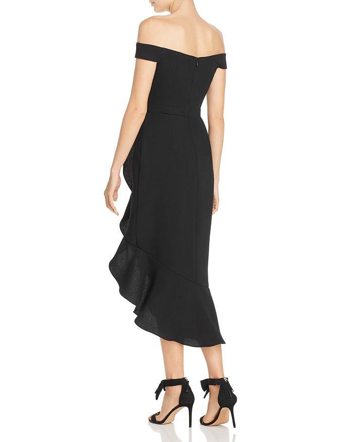 000b2e90b8f AQUA - Off-the-Shoulder Crepe Midi Dress - 100% Exclusive