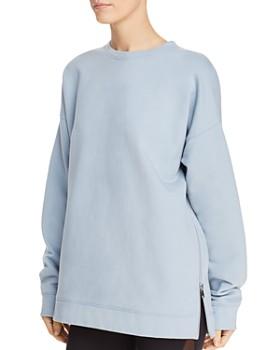 Avec Les Filles - Side-Zip Fleece Sweatshirt