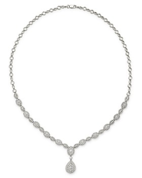 Bloomingdale's - Diamond Cluster Statement Necklace in 14K White Gold, 3.05 ct. t.w. - 100% Exclusive