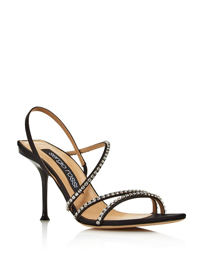 Sergio Rossi - Women's Crystal-Embellished High-Heel Slingback Sandals