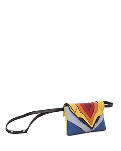 ELENA GHISELLINI - Felina Funny Rainbow Leather Crossbody