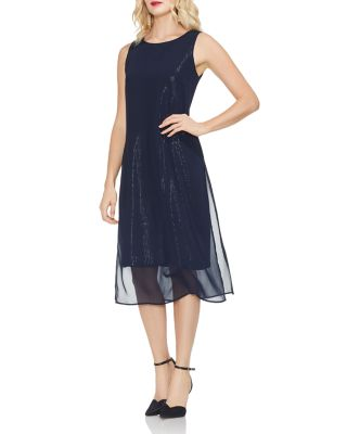 Vince Camuto Chiffon Overlay Dress