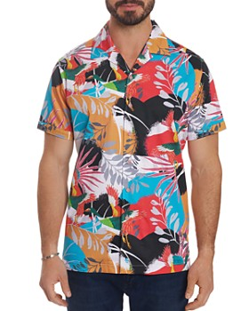 Robert Graham - Sakura Short-Sleeve Bird-Print Classic Fit Shirt