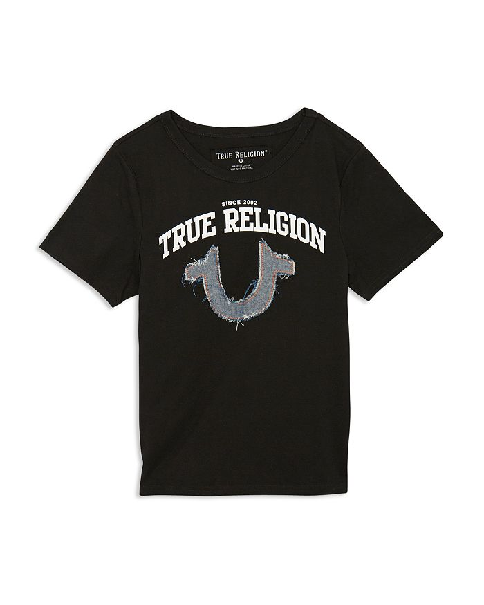 True Religion - Boys' Logo Appliqué Tee - Little Kid, Big Kid