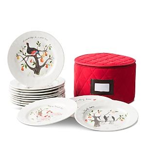 Juliska Twelve Days of Christmas Dessert/Salad Plate, Set of 12-Home