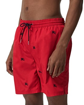 Burberry - Guildes Embroidered Logo Swim Trunks