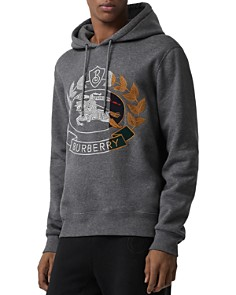 Burberry - Rutherford Embroidered Crest Hooded Sweatshirt