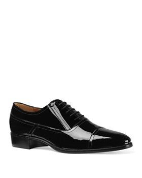 Gucci - Men's Patent Leather Cap-Toe Dress Shoes