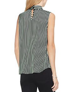 VINCE CAMUTO - Sleeveless Striped Tie-Neck Top