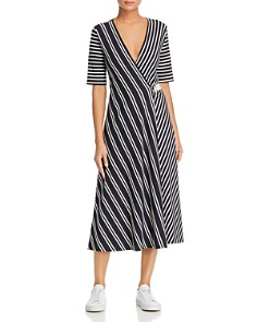 Weekend Max Mara - Ada Striped Midi Wrap Dress