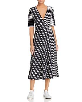 b1c92163a2 Weekend Max Mara - Ada Striped Midi Wrap Dress ...