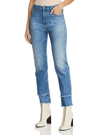AG - Isabelle High Rise Crop Straight Jeans in 13 Years Awestruck