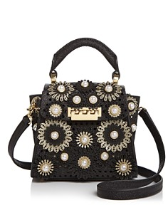 ZAC Zac Posen - Eartha Mini Glitter Floral Appliqué Crossbody