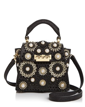 f0fc5ac625 ZAC Zac Posen - Eartha Mini Glitter Floral Appliqué Crossbody ...