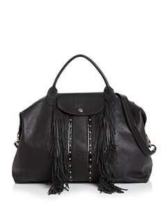 Longchamp - Le Pliage Cuir Rock Large Leather Satchel