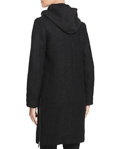 VINCE CAMUTO - Hooded Side Zip Coat