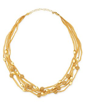 """Bloomingdale's - 14K Yellow Gold Beaded 5-Row Mesh Necklace, 17"""" - 100% Exclusive"""